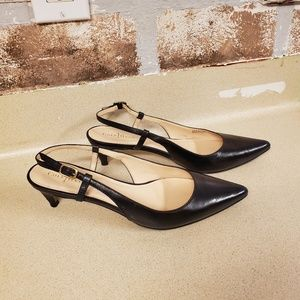 Cole Haan slingback leather heels pumps